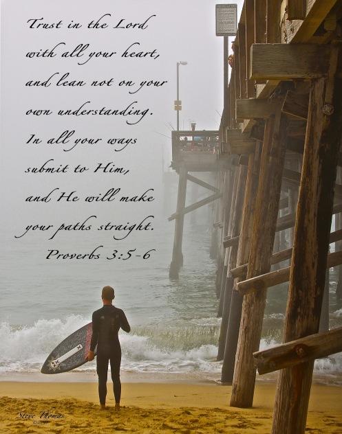 A FOGGY PIER 11X14 SCRIPTURE