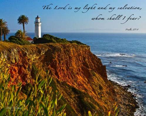 A PV LIGHTHOUSE A 16x20 SCRIPTURE